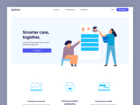 Landing page - Health care apps