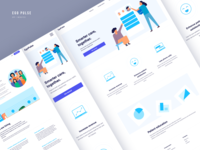 Landing page - Desktop and mobile