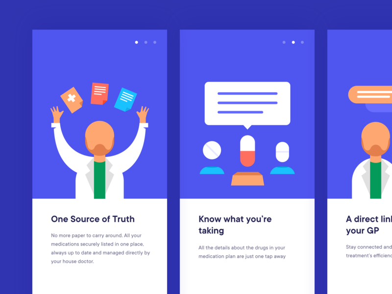 Onboarding for Health Care App patient doctor doctor app health app health care mobile app responcive website landing page concept onboarding illustration