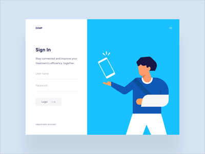 Healthcare App   Sign in phone patients vector sign in form login sign up sign in app website design illustration