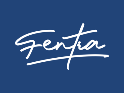 Fentia handlettering typography logo branding