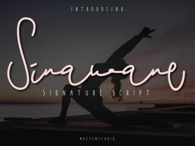 Sinawane Script design brand typography logo branding