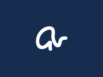 Gv typography vector icon design brand logo branding