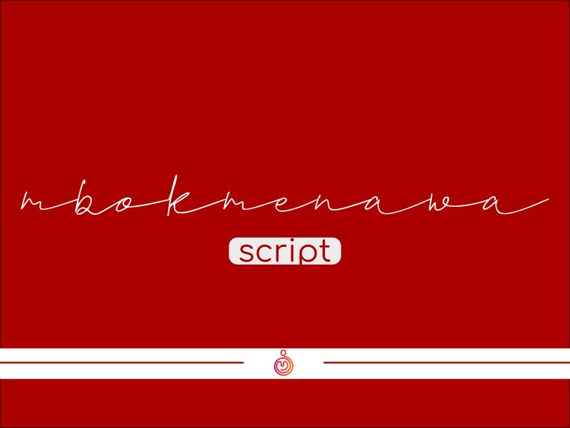 Mbok Menawa Script signature font script lettering script font fonts