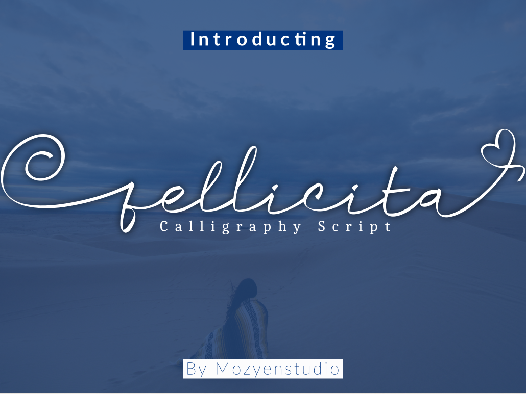 fellicita calligraphy script branding brand typography