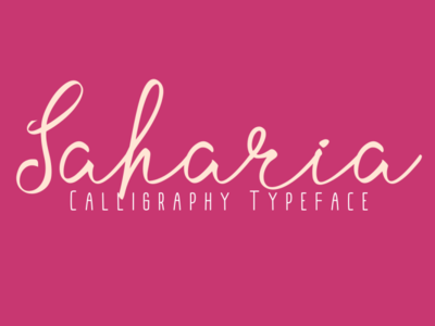 Saharia Calligraphy Typeface