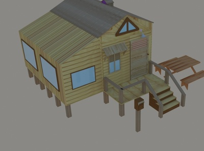 Wooden house games game art woodenhouse motiondesign 3d animation dribbble branding drawing 3dsmax adobeillustrator beach house pubg game design graphic  design design productdesign industrialdesign illustration animation