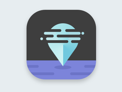Night App Icon location pin map navigation night purple blue icon app