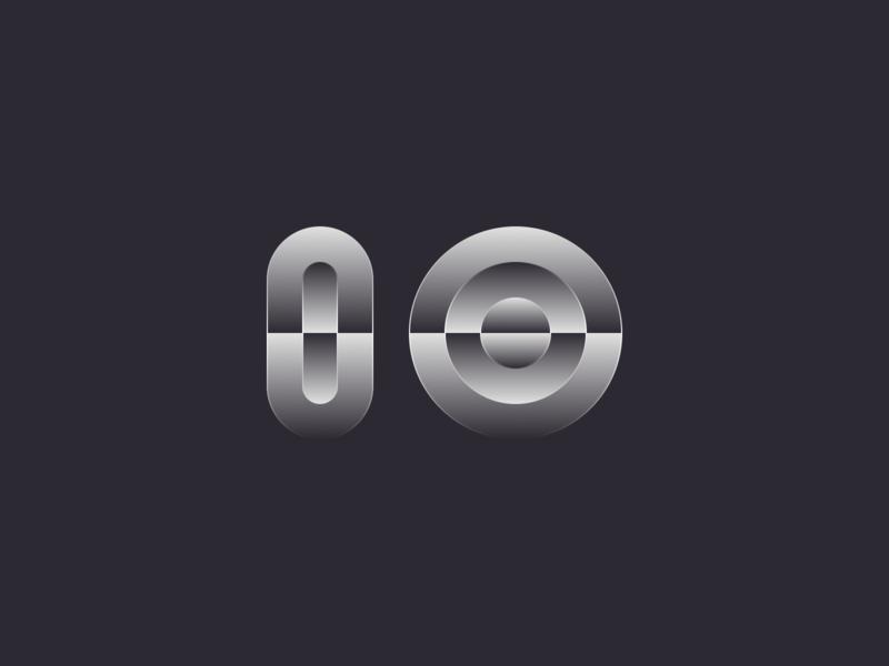 IO ui vector logo design minimal