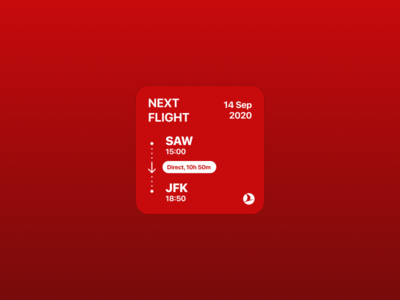 Turkish Airlines Widget app ios 14 widget