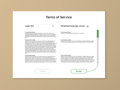 Daily UI 89 acceptance form toggle text legal language terms of service terms ui dailyui daily 100 challenge daily