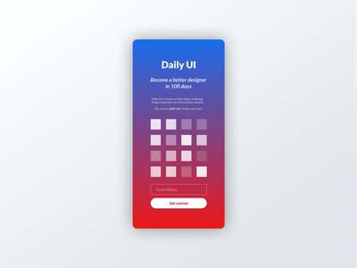 Daily UI 100 daily ui 100 daily ui challenge landing page daily ui mobile app mobile material design ui dailyui daily 100 challenge daily