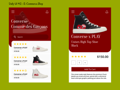 Daily UI #012 - E-Commerce Shop (Single Item)