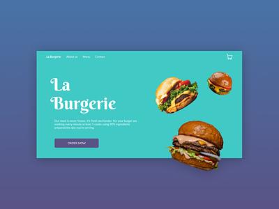 Food order & delivery   Website website concept website design website delivery order food burgers burger ui design