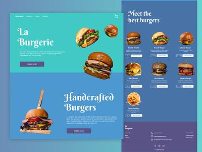 Food order & delivery | Website website concept website design website delivery order food burgers burger ui design