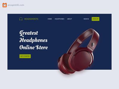 Headphones Online Store | Website music headphones website design web design website web ui design