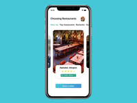 Restaurant table booking app