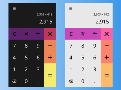 Daily UI #004 - Calculator material design calculator calculator ui daily ui dailyui design app challenge ui mobile app design mobile app