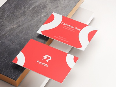 Buisness Card Design For Rumble Productions package package design card design buisness card logo branding design branding concept modern minimal design branding
