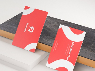Business Card Design For Rumble Production buisness card logo package design package branding design branding concept modern minimal design branding