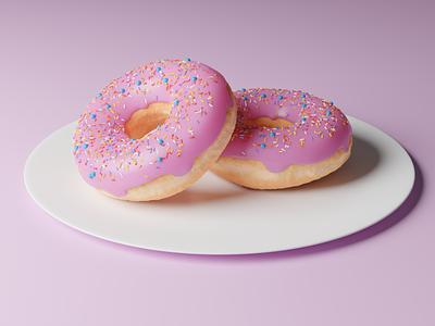 everyone starts with the donut illustration ui donut doughnut 3d art design 3d blender3d blender