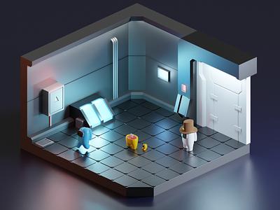Something SUS happened here | Among Us 3D render 3dillustration 3d art blender sci-fi illustration 3d game among us