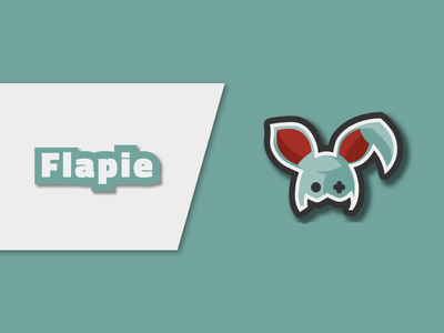 Flapie - Visual Identity illustrator vector illustraion banner youtube channel youtube logo youtube youtube banner flat logo design