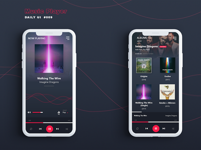 Music Player - DailyUI 009 music player music mobile ui mobile app app design design adobe xd dailyuichallenge app ui dailyui ui
