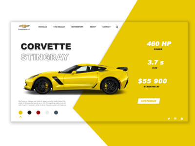Corvette - E commerce shop      DailyUI  012