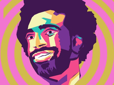 Msalah 01 coloful vector art football art pop art design vector illustration