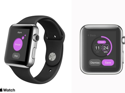 Apple Watch - 44mm II alarm app graphics designer userexperiencedesign user interface sleek brand assets uiuxdesigner ux ui design uipractice uiux designer branding apple ios sketch app apple watch mockup adobexd ui ux designer apple watch design design