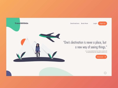 Travel - I landing  page website webpage webpage design app design ui8 dribbble ui designer uiuxdesign adobe adventure travel travel agency travel app user inteface ui illustration uiux designer ux designer adobexd