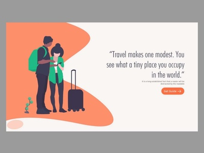 Travel - II graphic  design user experience prototype user experience design user interface ui  ux design ui  ux webpage design webpage landing page concept landing page ux vector branding illustration adobexd uiux designer ux designer ui