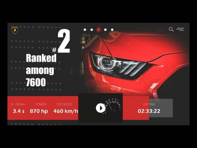 Car - I lights lightspeed car parts art webdesigner webdesign landing page design uiuxdesigner uiux speed red red and black ui uidesigner uidesign ui  ux ui web design lamborghini car car app