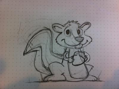Rough sketch of the squirrel