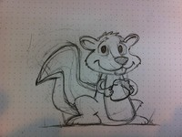 Rough sketch of the squirrel