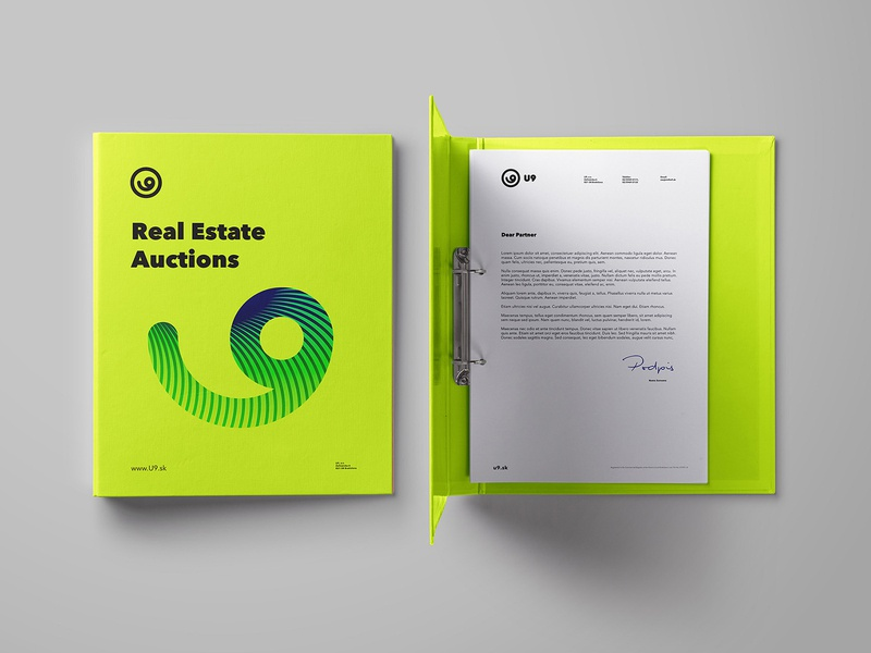 U9 - Auctions, Real estate company bold modern black fresh green property real estate branding identity brand logo