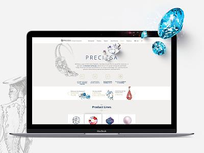 PRECIOSA crystal components NEW WEBSITE elegant clean sapphire diamond jewel
