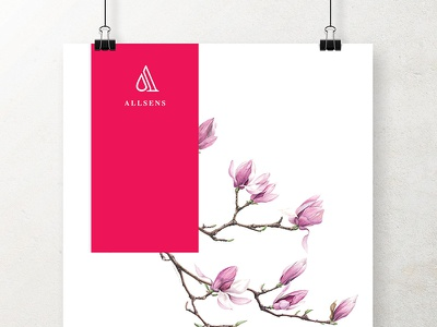 AllSens Logo & Brand Identity shop flower print poster elegance marketing scent aroma identity brand logo