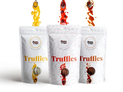 HAPPY CREPE Branding & Packaging design packaging branding