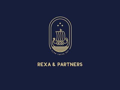 Rexa & Partners® Brand Identity water logo ship gold luxury pr consultation identity brand