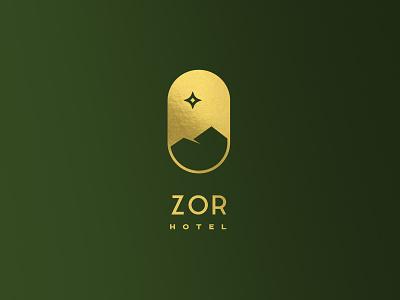 Hotel Brand identity identity illustration vector clean gold flat mountain star logo brand identity brand restaurant hotel