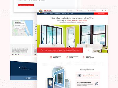 Windows and Doors Remodeling Company Website form ui ux wordpress redesign doors windows home remodel construction website design