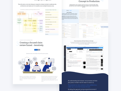 Marketing Landing Page healthcare internal web design one page landing page