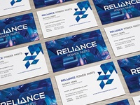 Branding Triangle Blue Business Cards