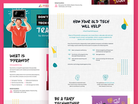 Microsite for a Non-Profit