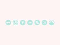 My social media icons