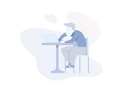 Fullstack Developer  Icon worker designer serenity illustrator monochrome icon developer boy character