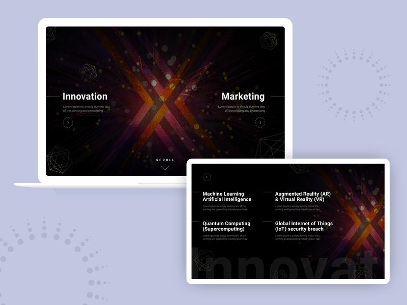 Landing Page Background Animation WIP design animation web ui ux