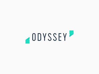 Odyssey Logo Concept marks modern minimal journey quotation quotes stories branding logo